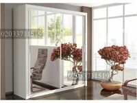 Sliding Mirror 2 Door Wardrobe -- HIGH QUALITY -- Same Day Delivery -- Cheap Price