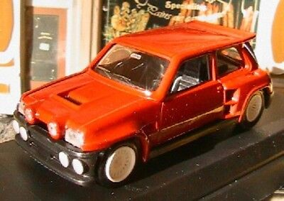 RENAULT 5 TURBO MAXI KIT 1986 SOLIDO 1865 1/43 RACING ROUGE ROSSO RED ROT