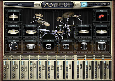 XLN Audio Metal ADPak Samples for Addictive Drums 2 Virtual Drum Instrument