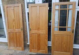 10 Assorted Solid Pine doors