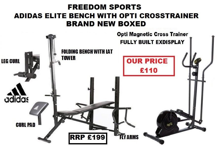 ADIDAS MULTI BENCH BRAND NEW BOXED AND EX DISPLAY OPTI CROSS TRAINER FREE DELIVERY WITHIN 10MILES