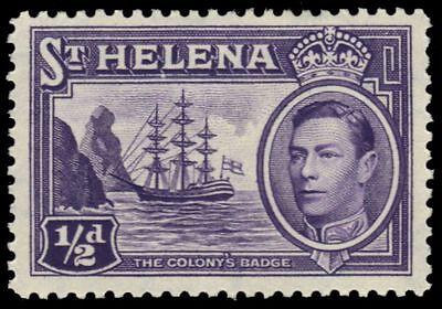 "ST. HELENA 118 (SG131) - King George VI ""Colonial Badge"" (pa26558)"