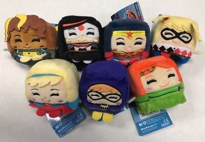 DC Super Hero Girls Kawaii Cubes, Full Set Of All 7 Plush Figures To Collect! - All Girl Superheroes