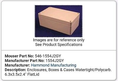 Water proof box  160x90x60     HAMMOND  1554J2GY   £18 each  wow bank hol offer
