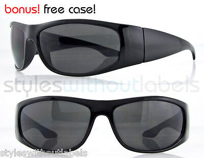 Limited Wrap Sunglasses Black Dark Lens Super OG LOC Style X Sports Cholo Biker