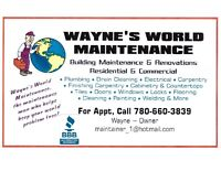 WAYNE'S WORLD MAINTENANCE (780) 660-3839. SEE FOR YOURSELF VIDEO