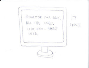 monitor for sale 17 inch