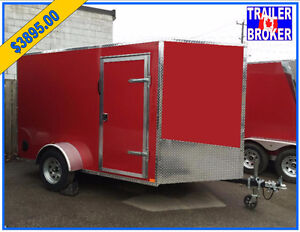 6 x 10 V-Nose Cargo trailer CANADIAN BUILT! 3 Year Warranty!