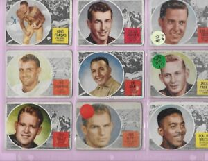 1960 TOPPS FOOTBALL SET 88/88 LOW GRADE SET
