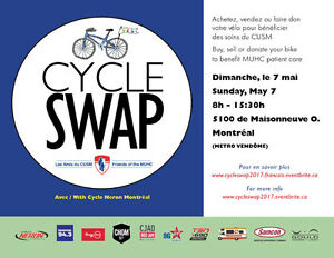 1st Annual CycleSwap Montreal on Sunday May 7 ~ 8am - 3:30pm