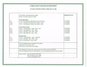 SENIOR APARTMENT FOR RENT  IN LONG SAULT Cornwall Ontario image 3