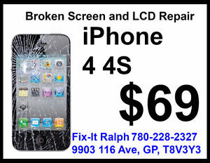 iPhone 4 and 4S LCD Screen Repair for $69