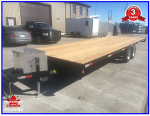 2019 - 24' x 8' Deck over flatbed,5200 lb axles,toolbox,ratchets