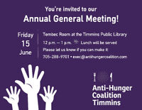 Anti-Hunger Coalition Timmins Annual General Meeting