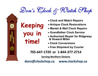 Don's Clock and Watch Shop - Thunder Bay area (No in-house)