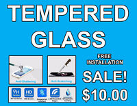 Tempered glass for iPhone and Samsung Free installation