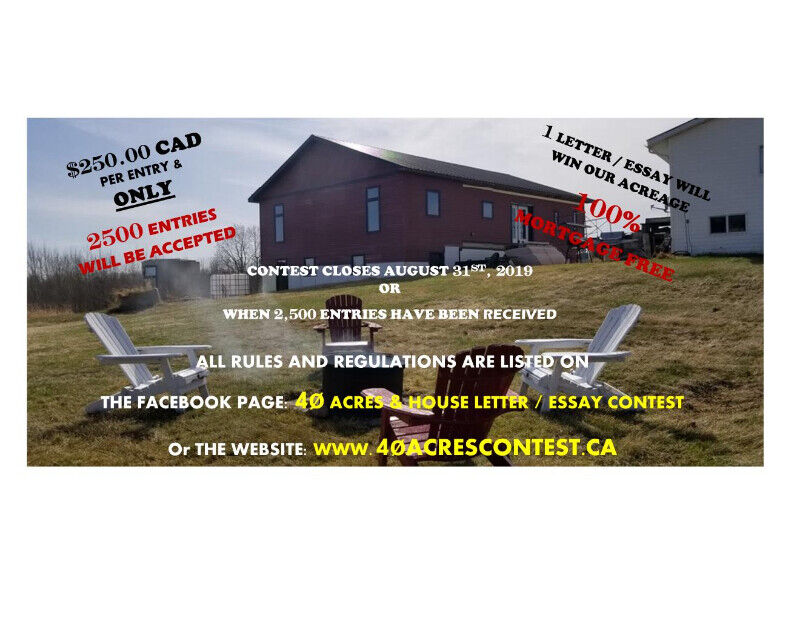 WIN INSTANT EQUITY 40 ACRES - Letter / Essay Contest