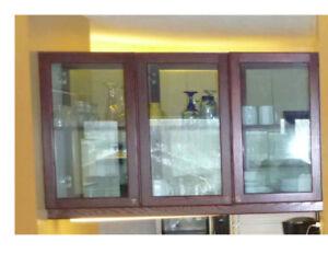 porte armoire de cuisine vitré