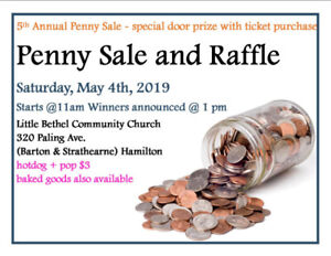 Penny Sale Saturday, May 4th, 2019