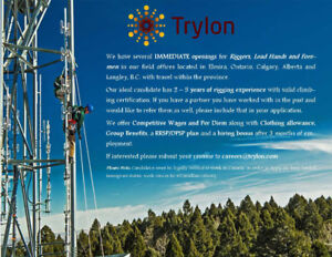 Tower Riggers Needed!
