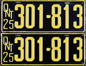 YOM Licence Plates For Your Old Auto - Ministry Guaranteed! Peterborough Peterborough Area image 2