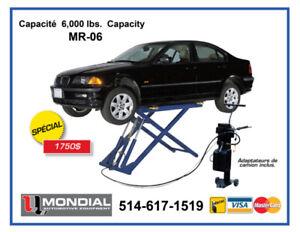 6000lbs Approuve CSA Lift Ciseau Machine a pneus Démonté pneus