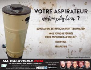 Réparation aspirateur central -nettoyage / boutique/ à domicile