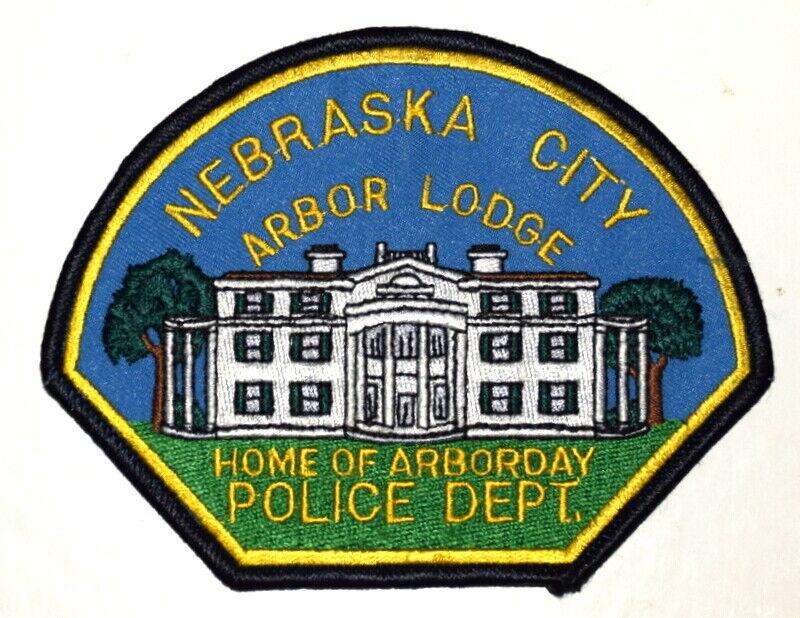 NEBRASKA CITY NEBRASKA NE Sheriff Police Patch ARBOR LODGE ARBORDAY ~