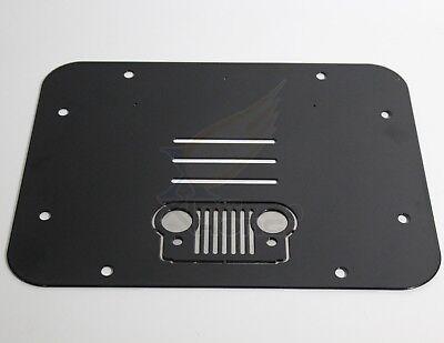 For 07 17 Jeep Wrangler Jk Jku Spare Tire Carrier Delete Filler Plate Tramp Stam Ebay