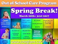 Spring Break Out of School Care Available!