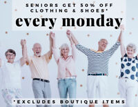 Monday is SENIORS SAVING DAY at CCA