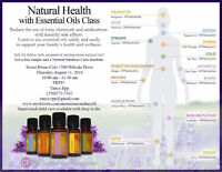 Natural Health Class with Essential Oils