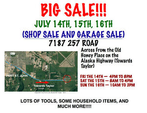 Big Shop Sale and Garage Sale this Weekend!!