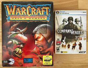 Warcraft Orcs and Humans ET Company of Heroes à vendre