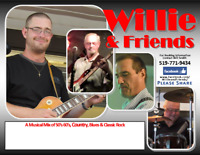 Willie & Friends - Booking Dates for Parties, Special Events