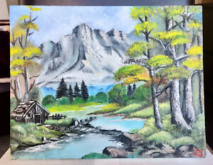 'Where the mountain echoes' - Original Oil Painting