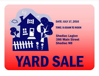 Shediac Legion Yard Sale