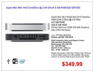 Apple Mac Mini Intel Core2Duo @ 2.40 GHz/4.0 GB RAM/320 GB HDD