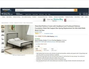 Brand new, still in box Double Metal Bed Platform Frame