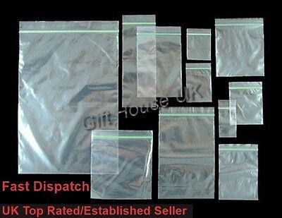 Klein Transparent Klar Beutel Plastik Baggies Griff Selbst Versiegelnd