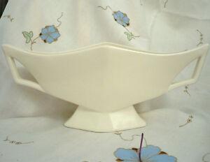 Vintage Creamware Art Deco Vase