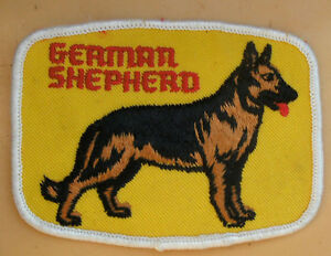 Vintage 1970's  Embroidered  Dog Jacket Patches $10 Each