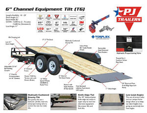"20' X 6"" PJ EQUIPMENT TILT TRAILER (T6)"