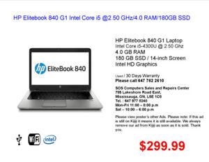 HP Elitebook 840 G1 Intel Core i5 @2.50 GHz/4.0 RAM/180GB SSD