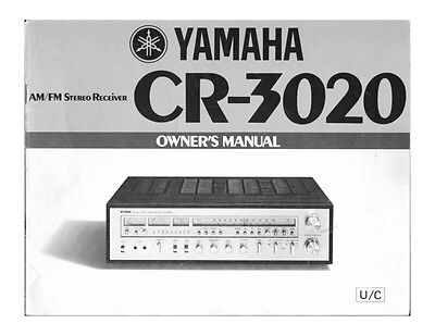Yamaha CR-3020 Receiver Owners Manual