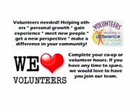 Willing to volunteer?