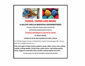GIANT YARDS AND YARNS SALE IN ORILLIA Kawartha Lakes Peterborough Area image 1