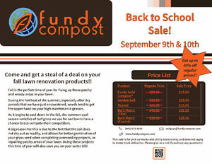Fall Lawn Renovation Sale @ Fundy Compost!
