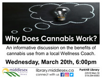 Free Cannabis Workshop Parkhill Ont