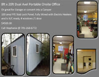 8ft x 20ft Portable onsite office